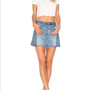 GRLFRND Denim Claudia Mini Skirt Size 24